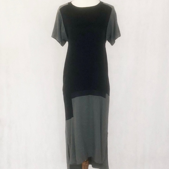 Pure DKNY Colorblock Short Sleeve Dress